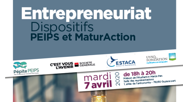Entrepreneuriat - Dispositifs PEIPS et MaturAction